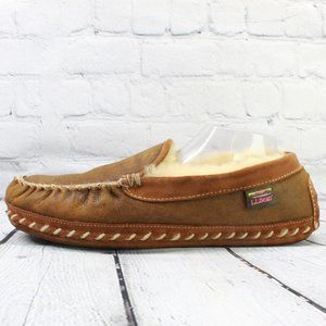 LL BEAN Wicked Good Shearling Lined Moc Size 12 M